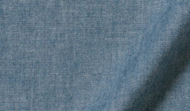 Fabric swatch of Blue Indigo Chambray Fabric