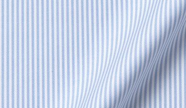 Fabric swatch of Mayfair Wrinkle-Resistant Light Blue Stripe Fabric