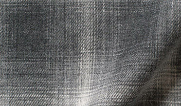 Custom shirt made with Grey Melange Ombre Plaid Double Cloth Fabric