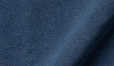 Fabric swatch of Albiate Washed Dark Indigo Oxford Fabric