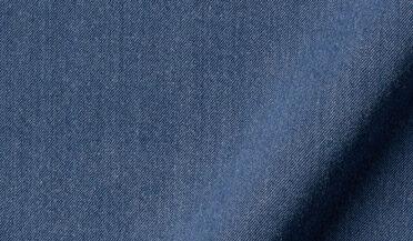 Fabric swatch of Albiate Washed Lightweight Slate Blue Denim Fabric