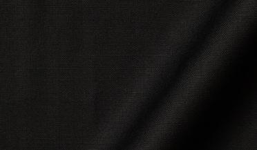 Fabric swatch of Reda Black Merino Wool Fabric