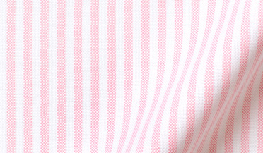Fabric swatch of Pink University Stripe Heavy Oxford Fabric