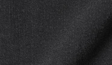 Fabric swatch of Albiate Washed Black Slub Denim Fabric