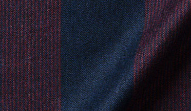 Fabric swatch of Canclini Navy and Red Wide Stripe Beacon Flannel Fabric