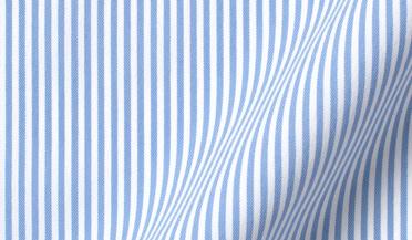 Custom shirt made with Performance Light Blue Pencil Stripe Fabric