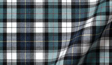 Custom shirt made with Vincent Sage and Indigo Plaid Fabric
