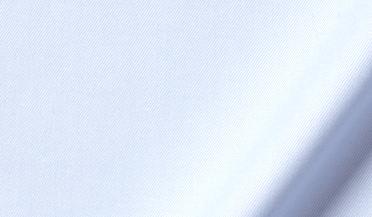 Fabric swatch of Non-Iron Stretch Supima Light Blue Twill Fabric