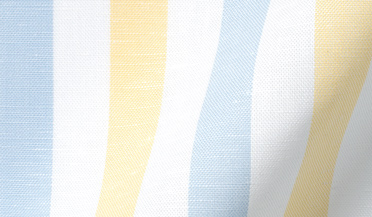 Custom shirt made with Portuguese Yellow and Light Blue Wide Stripe Cotton Linen Oxford Fabric
