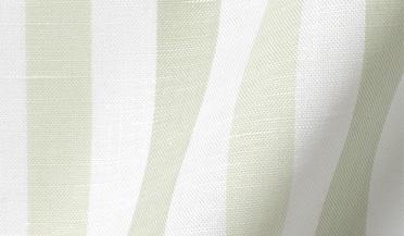 Custom shirt made with Portuguese Tonal Green Wide Stripe Cotton Linen Oxford Fabric