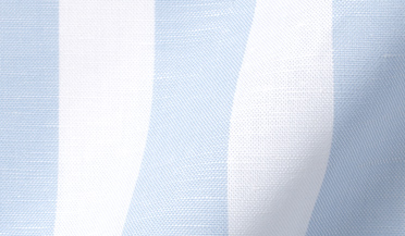Custom shirt made with Portuguese Light Blue Extra Wide Stripe Cotton Linen Oxford Fabric