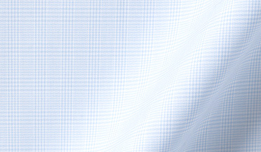Fabric swatch of Thomas Mason Goldline Light Blue Micro Glen Plaid Fabric