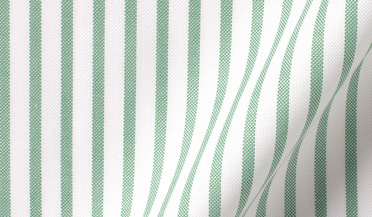 Custom shirt made with Green Striped Summer Oxford Fabric