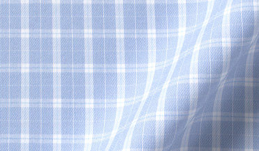 Custom shirt made with Performance Light Blue Multi Grid Fabric