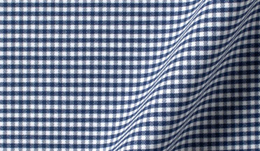 Custom shirt made with Performance Navy Small Gingham Fabric