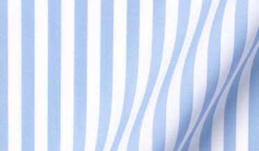 Fabric swatch of DJA Sea Island Light Blue Bengal Stripe Fabric