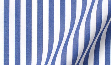 Fabric swatch of DJA Sea Island Royal Blue Bengal Stripe Fabric