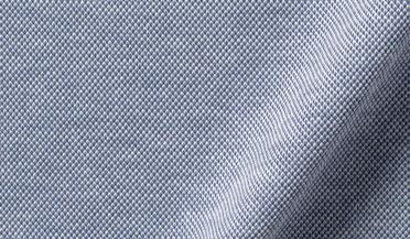 Japanese Blue Performance Knit Pique Fabric Sample