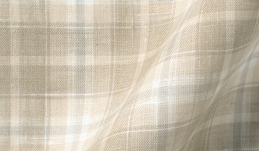Custom shirt made with Portuguese Washed Beige and Brown Plaid Linen Fabric