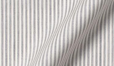 Custom shirt made with Reda Light Grey Melange Stripe Merino Wool Fabric