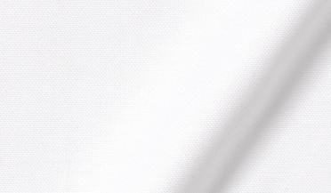 Fabric swatch of Thomas Mason White Comfort Oxford Fabric