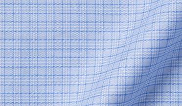 Non-Iron Stretch Light Blue Small Check Fabric Sample