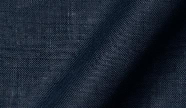 Fabric swatch of Baird McNutt Navy Irish Linen Fabric