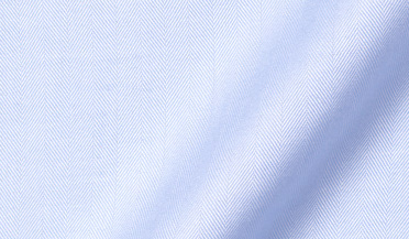 Fabric swatch of Non-Iron Light Blue Herringbone Fabric