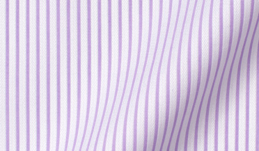 Fabric swatch of Non-Iron Lavender Stripe Dobby Fabric
