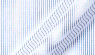 Fabric swatch of Non-Iron Light Blue Fine Stripe Fabric