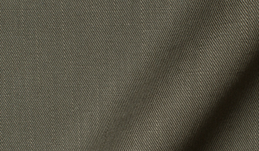 Fabric swatch of Albiate Washed Olive Cotton and Linen Denim Fabric