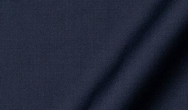 Fabric swatch of Reda Navy Blue Merino Wool Fabric