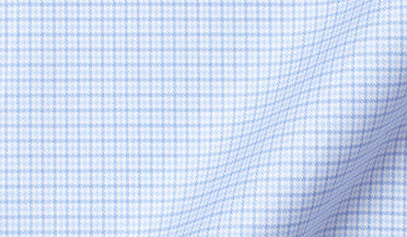 Fabric swatch of DJA Sea Island Light Blue Multi Houndstooth Fabric