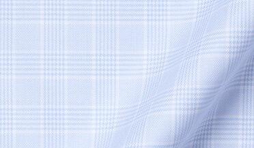 Fabric swatch of DJA Sea Island Light Blue Glen Plaid Fabric