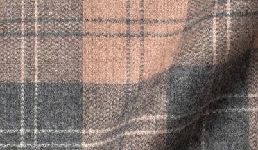 Fabric swatch of Canclini Beige and Grey Plaid Beacon Flannel Fabric