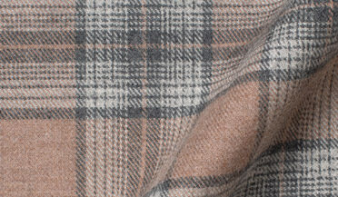 Fabric swatch of Canclini Beige and Grey Ombre Plaid Beacon Flannel Fabric