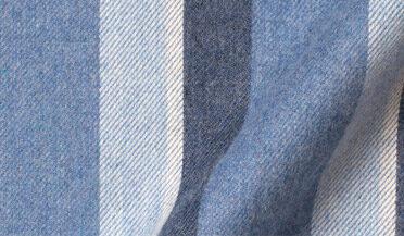 Fabric swatch of Canclini Glacier Blue Shadow Stripe Beacon Flannel Fabric