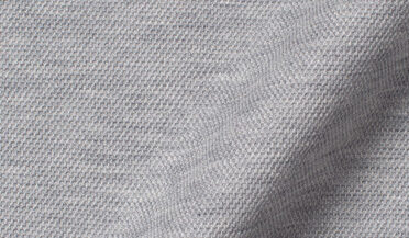 Fabric swatch of Canclini Melange Grey Knit Pique Fabric