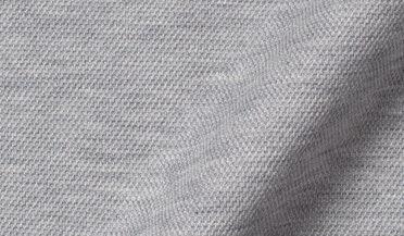 Custom shirt made with Canclini Melange Grey Knit Pique Fabric