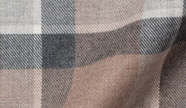 Fabric swatch of Canclini Beige and Grey Shadow Plaid Beacon Flannel Fabric