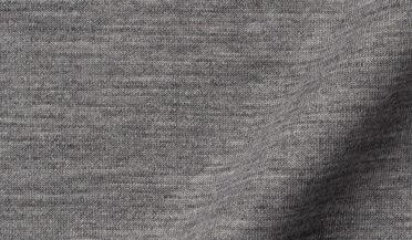 Fabric swatch of Reda Light Grey Melange Merino Wool Jersey Knit Fabric