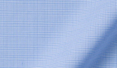Fabric swatch of Waverly Light Blue 120s Small Prince of Wales Check Fabric