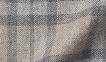 Fabric swatch of Teton Beige and Light Grey Plaid Flannel Fabric