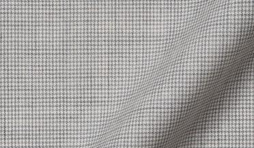 Custom shirt made with Reda Light Grey Houndstooth Merino Wool Fabric