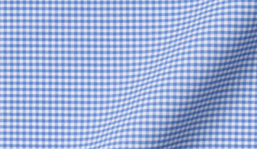 Fabric swatch of Performance Light Blue Small Gingham Fabric