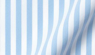 Performance Light Blue Bengal Stripe Fabric Sample