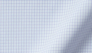 Fabric swatch of Performance Light Blue and Lavender Micro Check Fabric