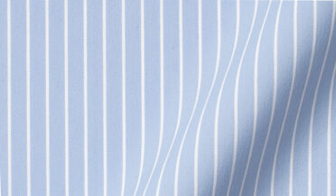 Performance Light Blue Reverse Stripe Fabric Sample
