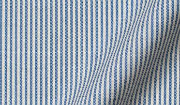 Custom shirt made with Reda Blue Pencil Stripe Merino Wool Fabric