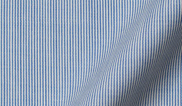 Custom shirt made with Reda Blue Fine Stripe Merino Wool Fabric
